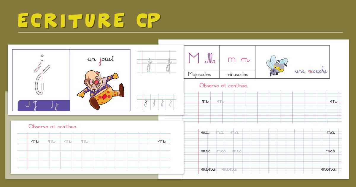 Écriture cursiveCP - Cahier d'écriture CP à imprimer