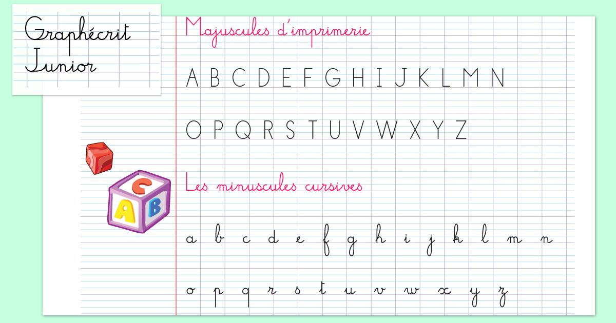 Écriture cursiveMaternelle et CP Graphécrit Junior