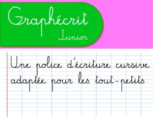Police d'écriture école à télécharger Graphécrit junior